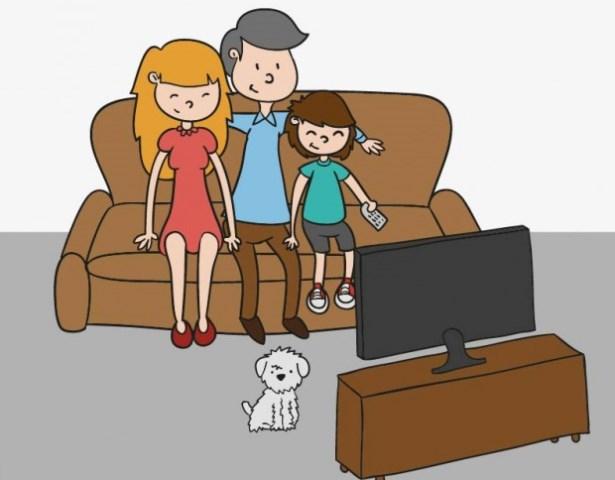 televizorul in familie