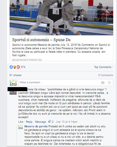 sportul si autonomia FB