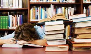 Books sleeping