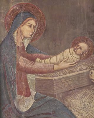 The birth of Jesus By Barna Da Siena (died c. 1351)