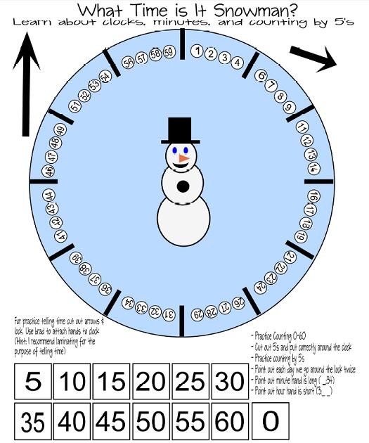 Snowman free printable