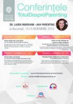 Pentru prima data in Romania, Dr. Laura Markham, la Conferintele Totul despre mame. La final avem concurs.