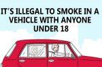 In Anglia va fi ilegal sa fumezi in masina daca ai langa tine un copil