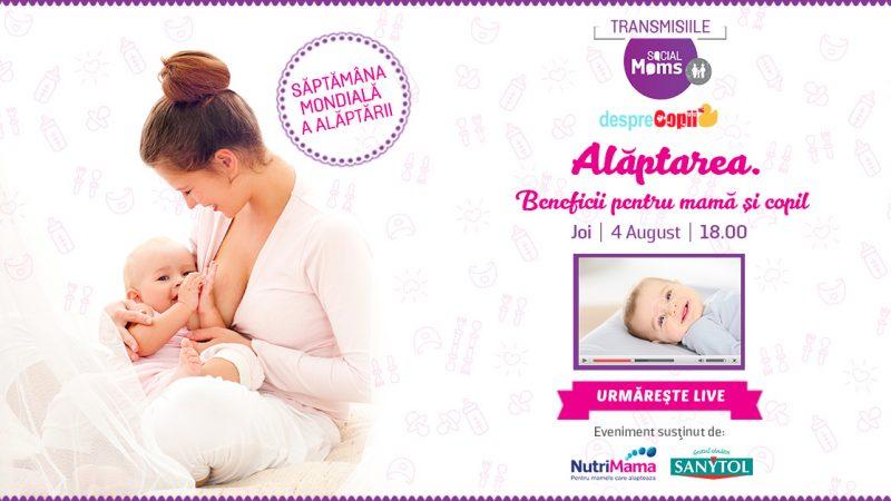 """Seminarul Social Moms – """"Alaptarea. Beneficii pentru mama si copil"""""""
