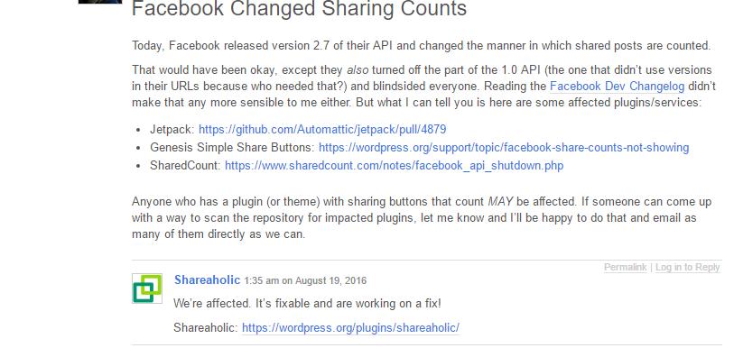 shareaholic API