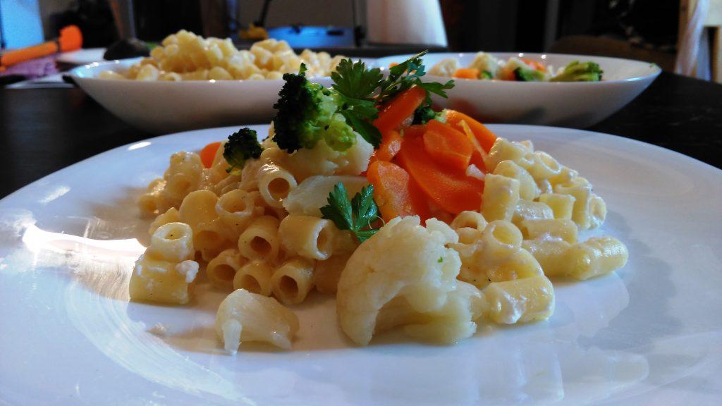 rogatoni incoronati cu legume