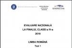 SUBIECTE LB. ROMANA EVALUARE NAȚIONALĂ CLASA A IV-A. Ce subiecte au primit elevii la Lb. Romana