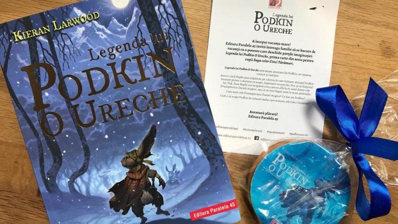 """""""Legenda lui Podkin O Ureche"""" – prima carte din seria pentru copii Saga celor Cinci Tărâmuri"""