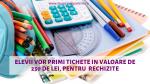 Din toamnă, fiecare elev va primi tichete in valoare de 250 de lei, pentru achizitionarea de rechizite. Care este procedura pe care trebuie sa o urmeze parintii