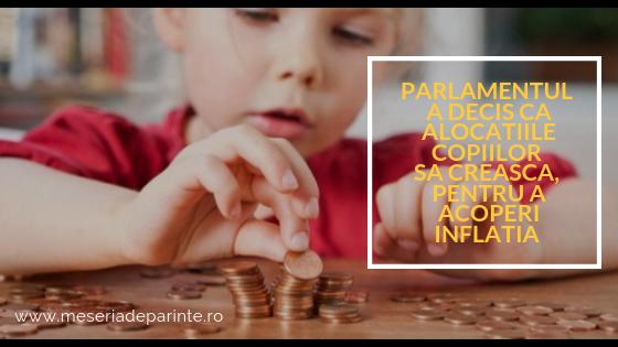 Parlamentul a decis ca alocatiile copiilor sa creasca