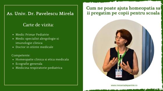 """""""Cum ne poate ajuta homeopatia sa ii pregatim pe copii pentru scoala"""" – interviu cu As. Univ. Dr. Pavelescu Mirela"""