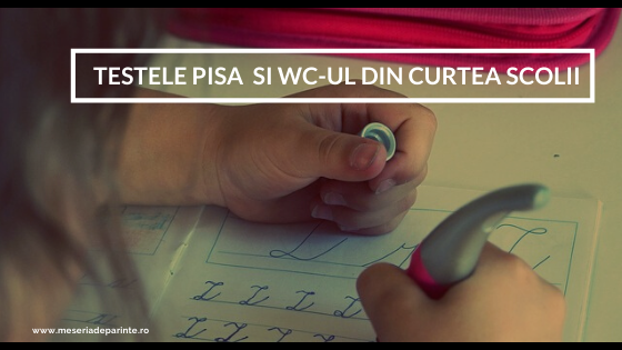 Testele PISA si WC-ul din curtea scolii