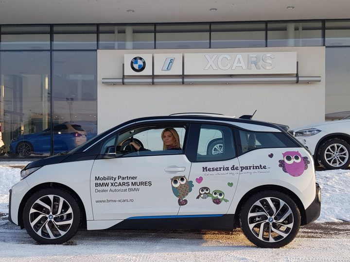 BMW i3 masina oficiala Meseriadeparinte.ro in 2020. Powered by BMW XCARS Mures