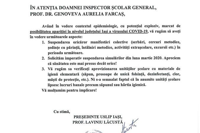 Cea mai importanta masura de preventie contra epidemiei de coronavirus nu este respectata in scolile din Romania