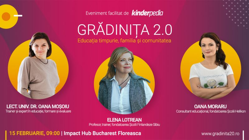 Gradinita 2.0: Grădinița 2.0: Educația timpurie, familia și comunitatea. Editia 2020