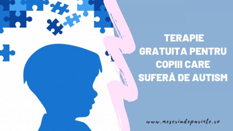 Terapie gratuita pentru copiii care suferă de autism
