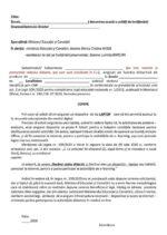 Model Cerere laptop conform Legii 109/2020