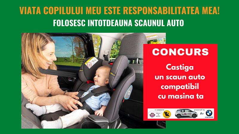 #CONCURS Castiga un scaun auto compatibil cu masina ta