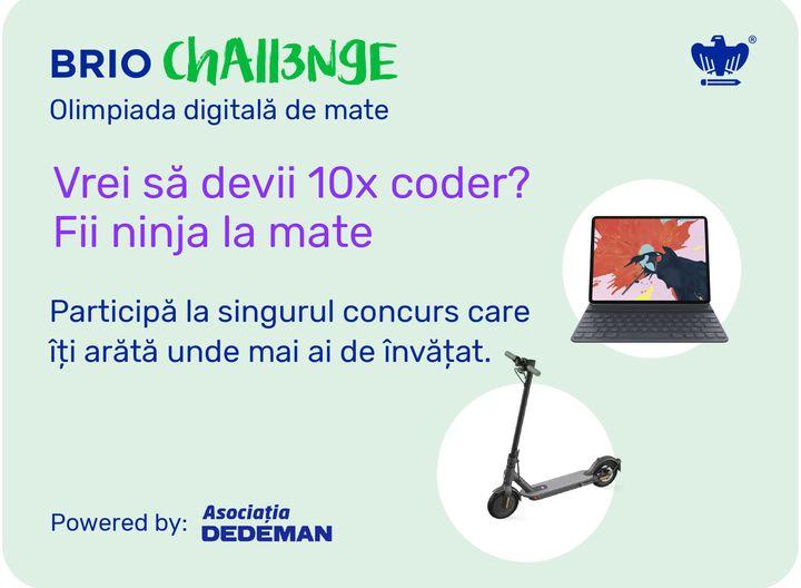 Inscrie-ti copilul la Brio Challenge, olimpiada digitala de MATE