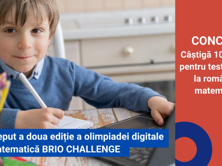 A început a doua ediție a olimpiadei digitale de matematică, BRIO CHALLENGE + CONCURS
