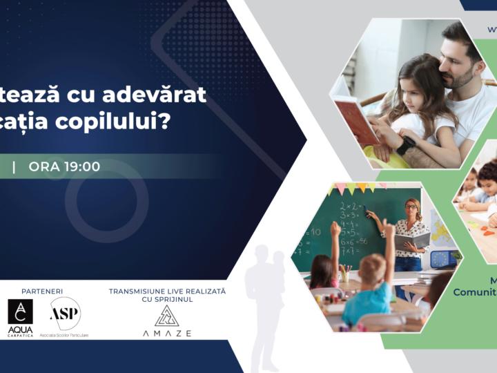Ce contează cu adevărat în educația copilului? – Eveniment online gratuit